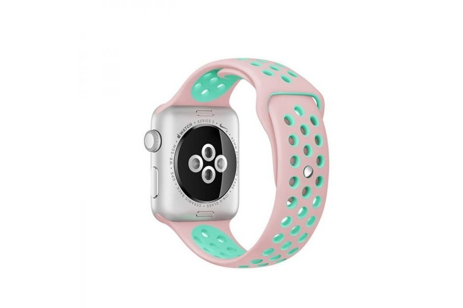 Ремешок Silicone with Pink/Green Nike for Apple Watch 42/44mm