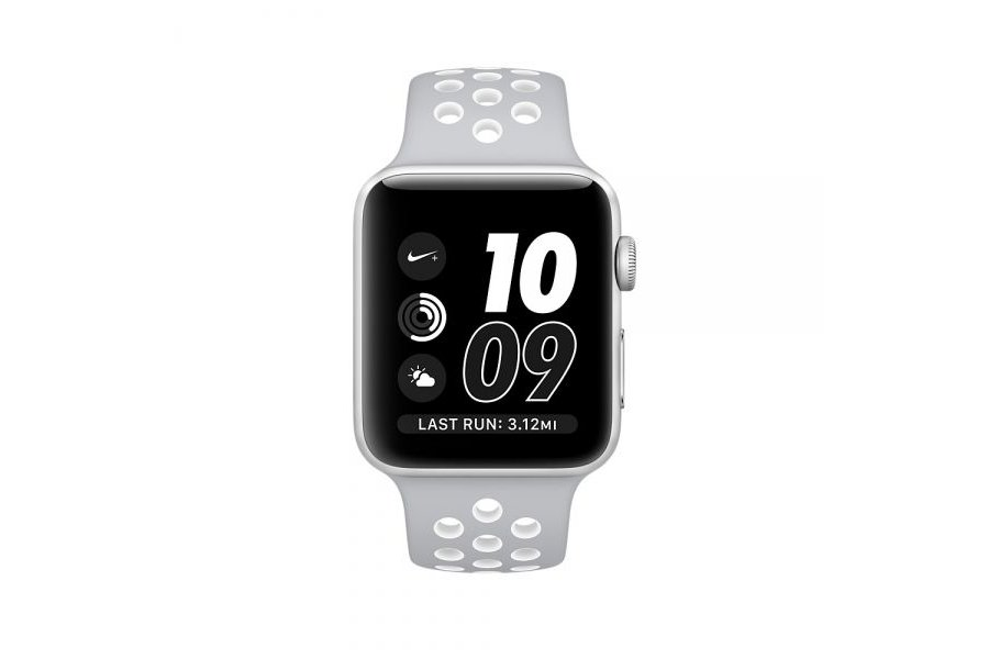 Ремешок Silicone with Flat Silver/White Nike for Apple Watch 42/44mm