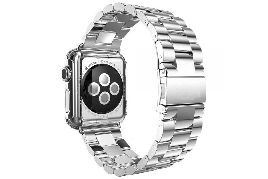 Браслет Steel Watch Band Silver For Apple Watch 38/40mm и HOCO накладка