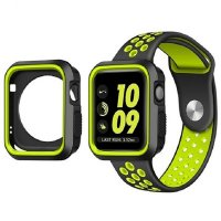 Ремешок Silicone Green/Black Nike for Apple Watch 42/44mm и накладка