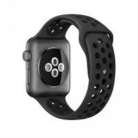 Ремешок Silicone with Flat Black/Black Nike for Apple Watch 42/44mm