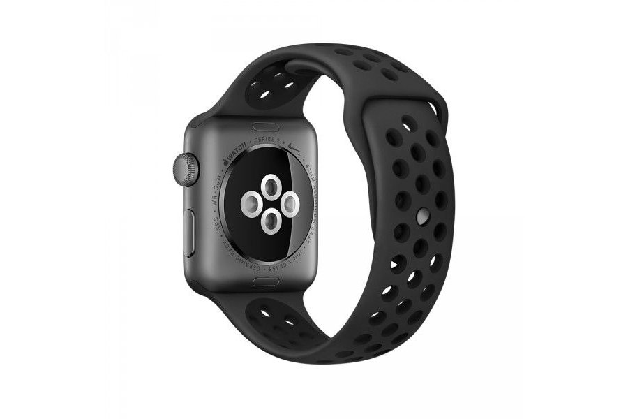 Ремешок Silicone with Flat Black/Black Nike for Apple Watch 38/40mm