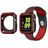 Ремешок Silicone Red/Black Nike for Apple Watch 42/44mm и накладка