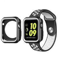 Ремешок Silicone White/Black Nike for Apple Watch 38/40mm и накладка