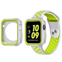 Ремешок Silicone Green/Grey Nike for Apple Watch 42/44mm и накладка