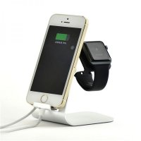 Подставка UNIVERSAL CHARGING STAND for Apple Watch and iPhone (silver)