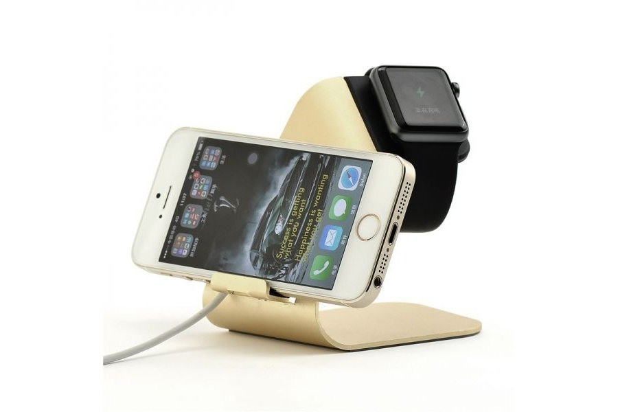 Подставка UNIVERSAL CHARGING STAND for Apple Watch and iPhone (gold)