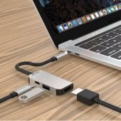 Переходник для Macbook ZAMAX 3 в 1 Type-C to HDMI + USB 3.0 + PD Multifunction Adapter Grey