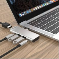 Концентратор ZAMAX 5-в-1 Type C + USB HUB to HDMI/HDTV + PD + USB C + 2 USB 3.0/3.1 Grey