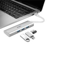 Адаптер WIWU A731HP USB-C Hub with 3 x USB 3.0, Micro SD Slot, SD Card Slot,HDMI and Type-C Silver