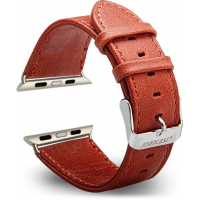 Ремешок кожаный JisonCase classic red Apple Watch 38/40/42/44mm