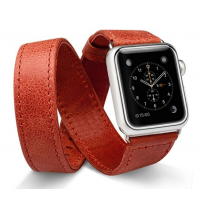 Ремешок кожаный JisonCase Extra Long Band Red Apple Watch 38/40/42/44mm