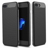 Чехол силиконовый ROCK Carbon Fibre для iPhone 7 Plus / iPhone 8 Plus