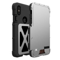 Чехол R-just Flip Armor King для iPhone X/XS Silver