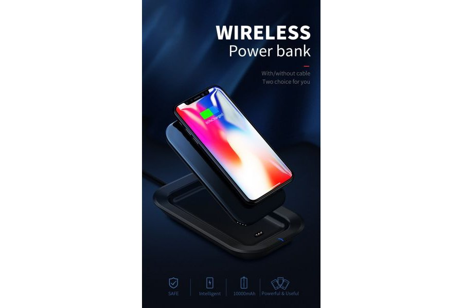 Беспроводная зарядка Power Bank Dual-Use Wireless Charger Power Bank 10000 mAh White