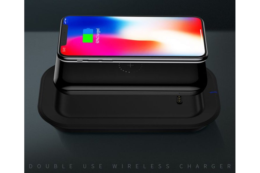 Беспроводная зарядка Power Bank Dual-Use Wireless Charger Power Bank 10000 mAh Black