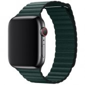 Кожаный ремешок Leather Loop Band for Apple Watch 38/40 mm - Forest Green