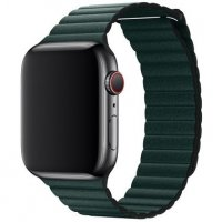 Кожаный ремешок Leather Loop Band for Apple Watch 42/44 mm - Forest Green