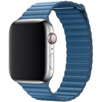 Кожаный ремешок Leather Loop Band for Apple Watch 42/44 mm - Cape Cod Blue