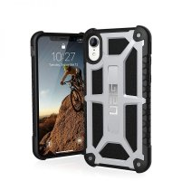 Чехол UAG Monarch Platinum для iPhone XR Silver