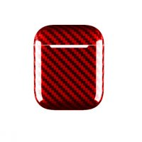 Чехол AirPods Case Apple Carbon Fiber Case Red