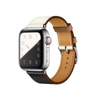 Ремешок для Apple Watch 42/44mm Hermes Single Tour Noir/Blanc/Gold