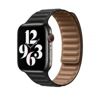 Ремешок для Apple Watch 42/44mm Leather Link Black
