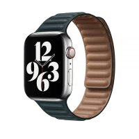 Ремешок для Apple Watch 42/44mm Leather Link Forest Green