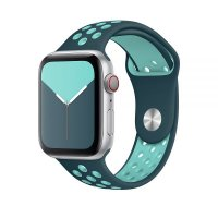 Ремешок для Apple Watch 42/44mm Nike Band Midnight Turquoise/Aurora Green